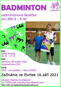 plakat badmintonova skolicka 20212022